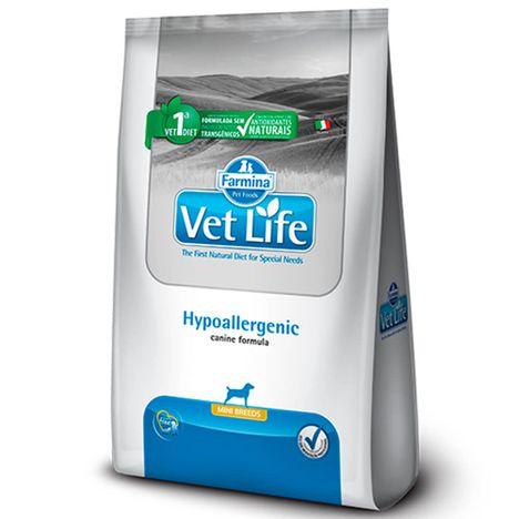 Ração Vet Life Hypoallergenic para Cães de Raças Pequenas 2 Kg