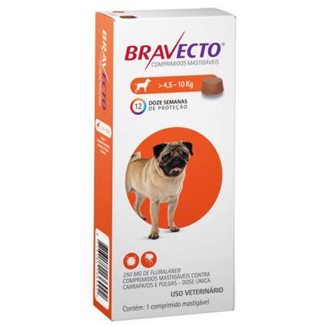 Bravecto Antipulgas e Carrapatos Para Cães de 4,5kg a 10kg