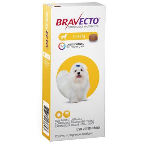 Bravecto Antipulgas e Carrapatos Para Cães de 2kg a 4,5kg