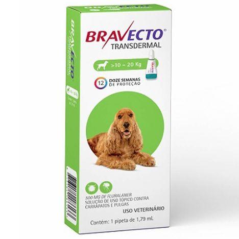Bravecto Transdermal Para Cães de 10kg a 20kg