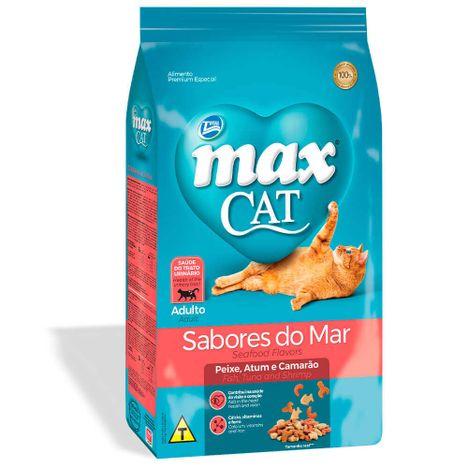 Ração Max Cat Sabores do Mar Gatos Adultos 1 Kg