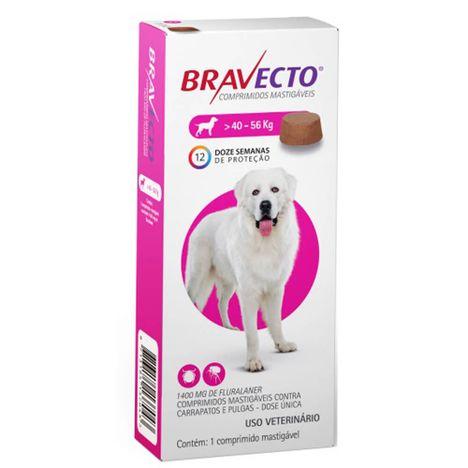 Bravecto Antipulgas e Carrapatos Para Cães de 40kg a 56kg
