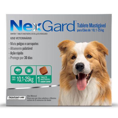 Antipulgas Nexgard Cães de 10,1 à 25 Kg  com 1 Comprimidos