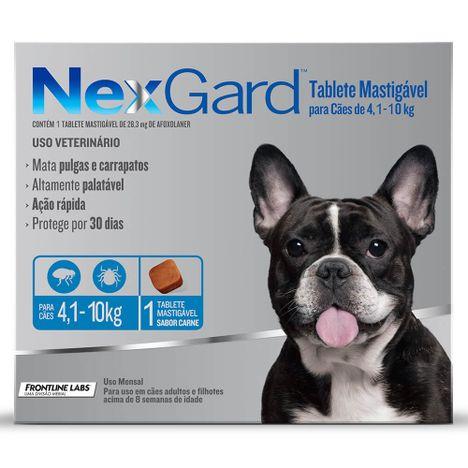 Antipulgas Nexgard Cães de 4 à 10,1 Kg  com 1 Comprimidos