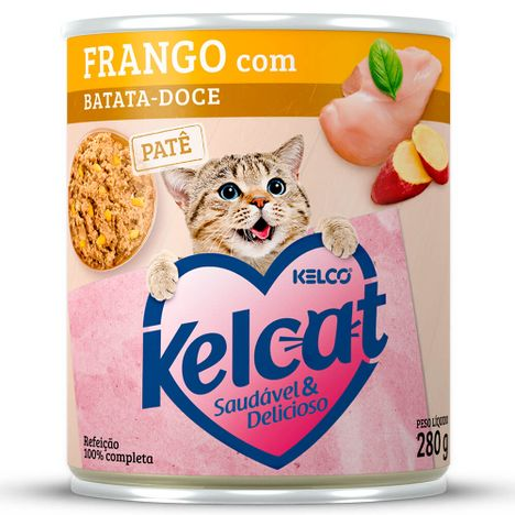 Kelcat Alimento Úmido Lata Frango com Batata-Doce 280g