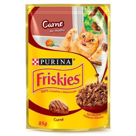 Sachê Purina Friskies Carne ao Molho para Gatos 85G