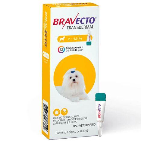 Bravecto Transdermal Para Cães de 2kg  a 4,5kg