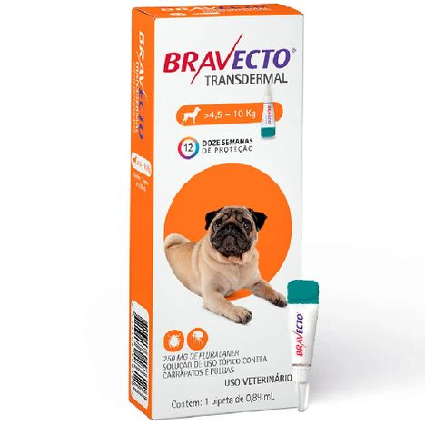 Bravecto Transdermal Para Cães de 4,5kg a 10kg