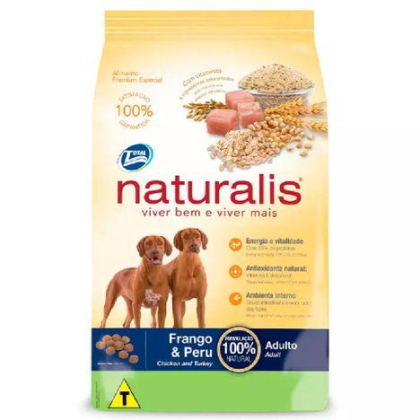 Ração Total Naturalis Cães Adultos Sabor Frango e Peru 20 Kg